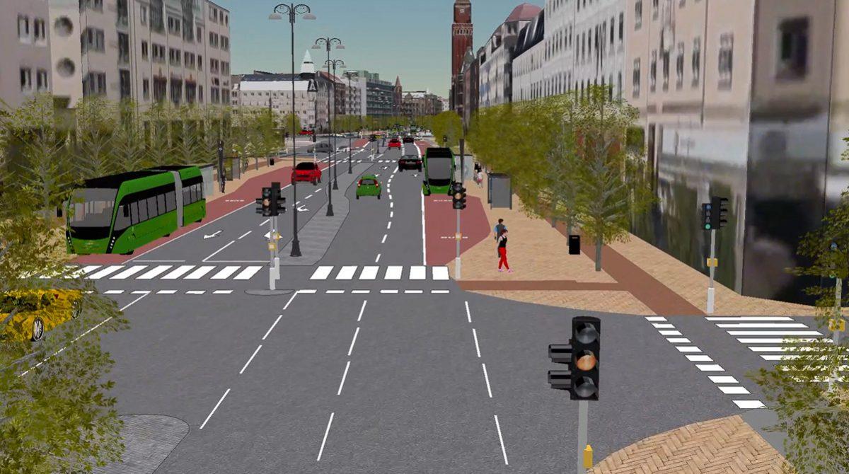 Helsingborg visualiserad med ArcGIS i 3D
