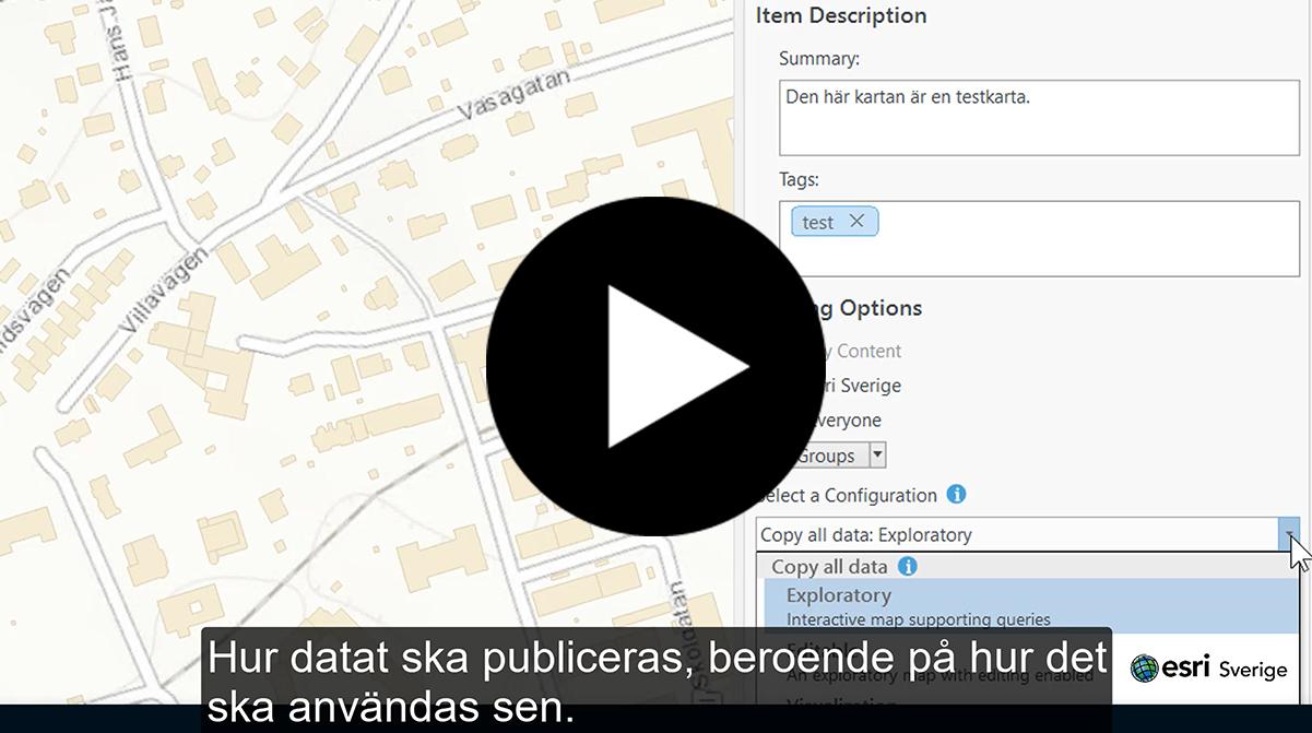 Dela data och karta via portalen i ArcGIS Pro
