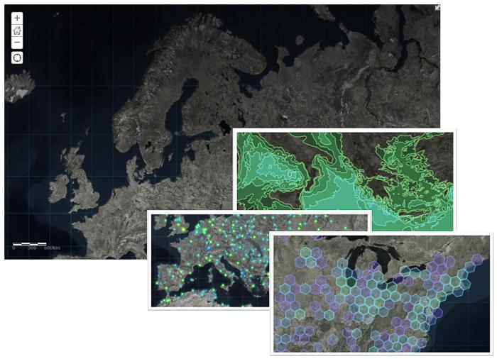 Firefly - bakgrundskarta i vektorgrafik