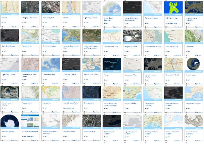 Esris globala bakgrundskartor på ArcGIS Online
