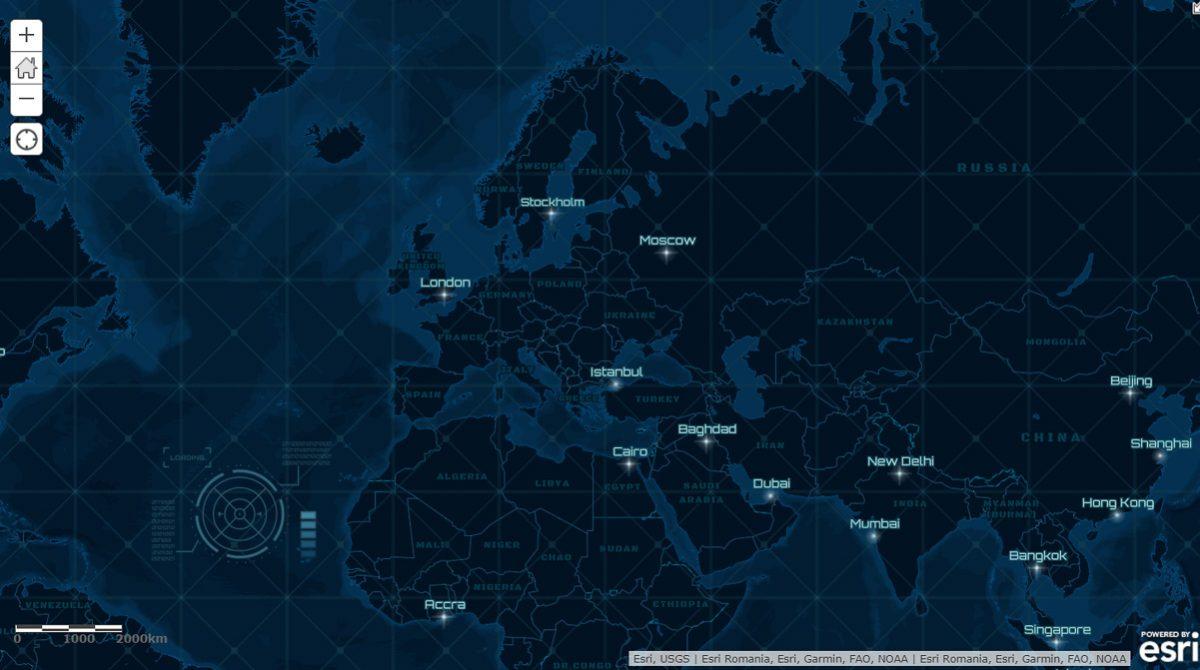 Nova - bakgrundskarta i vektorgrafik