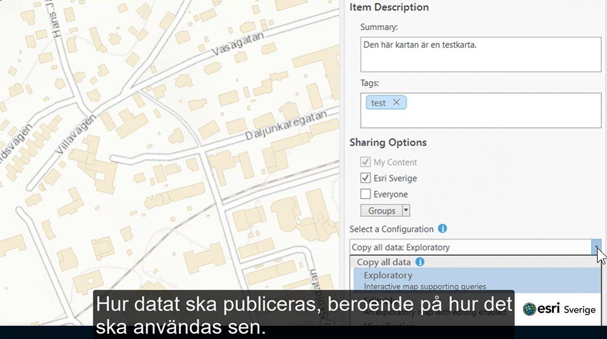 Dela enkelt i ArcGIS Pro och ArcGIS Online