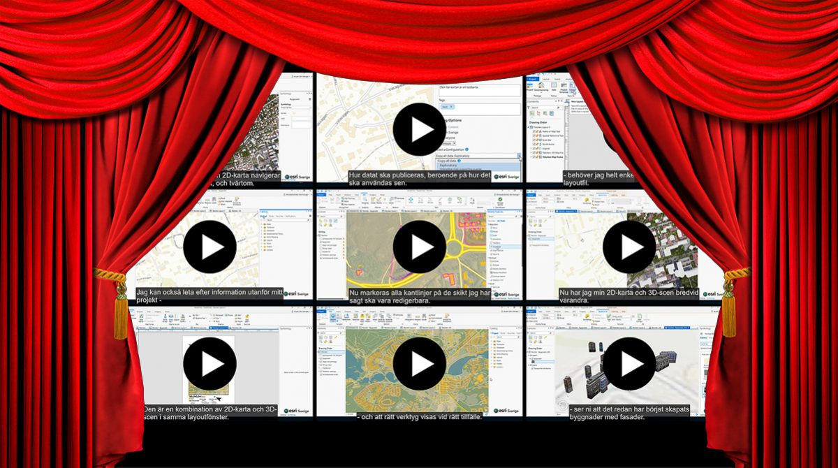Filmvisning - 9 demos i ArcGIS Pro