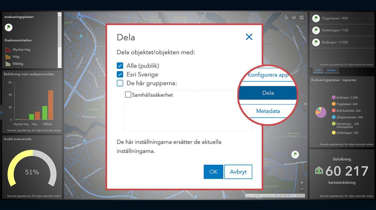 Redigerbar Karta Sverige.Dela Data Och Karta I Arcgis Online Arcgis Bloggen