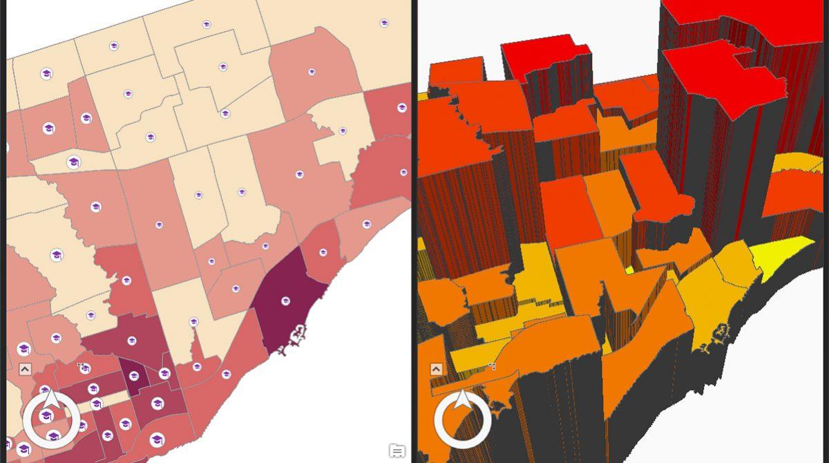 Förflytta dig sömlöst mellan kartor och 3D-scener i ArcGIS Pro