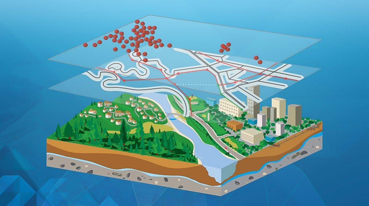 Lager av GIS-information i geografisk analys