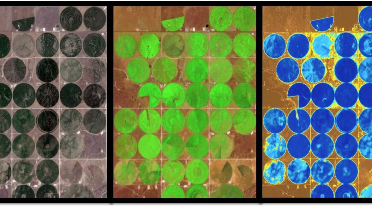 jordbruk sett genom olika band