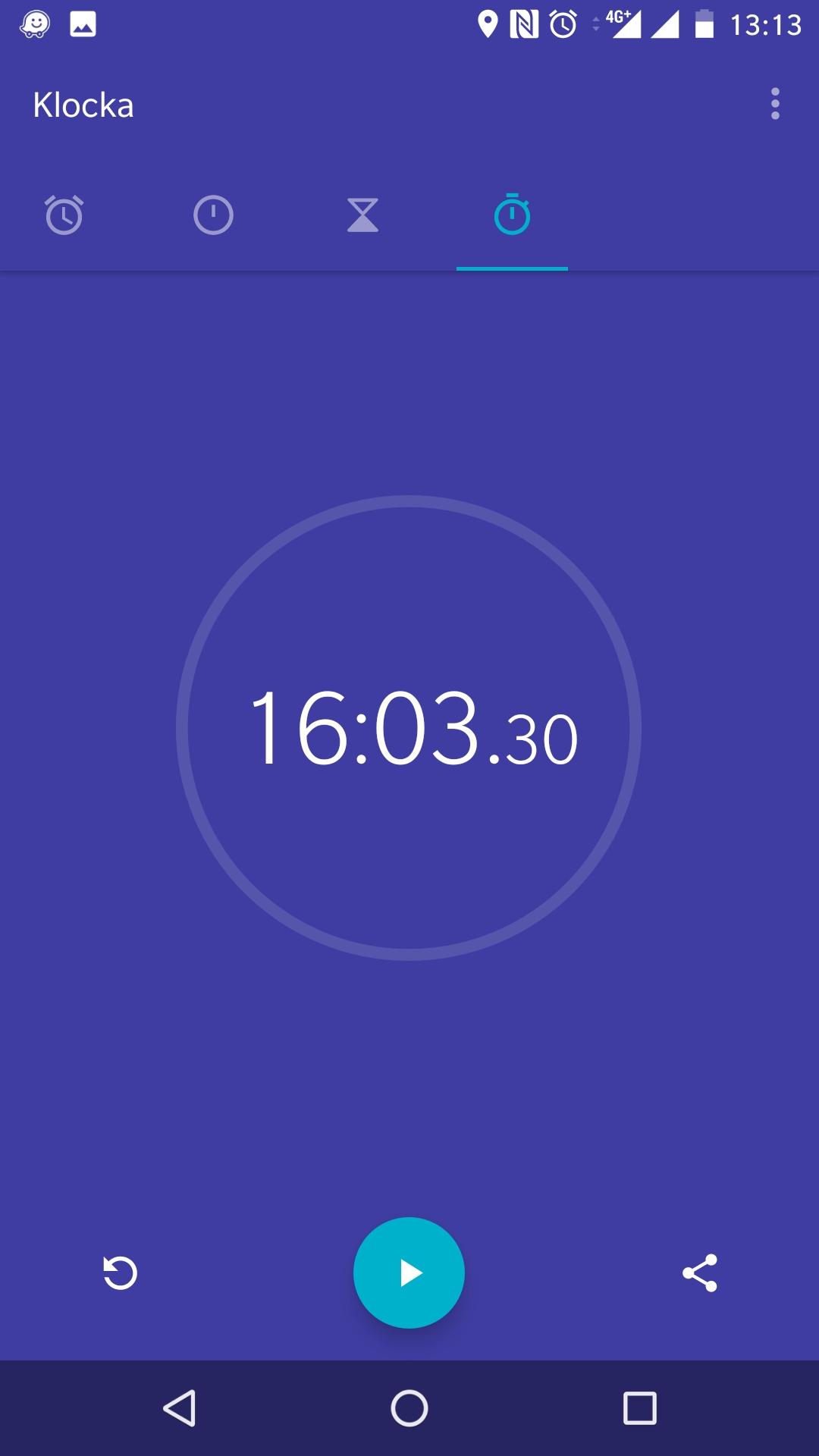 Tiden var 16:03