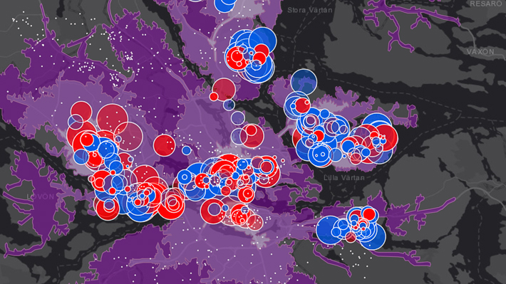 Analys visualiserad på karta