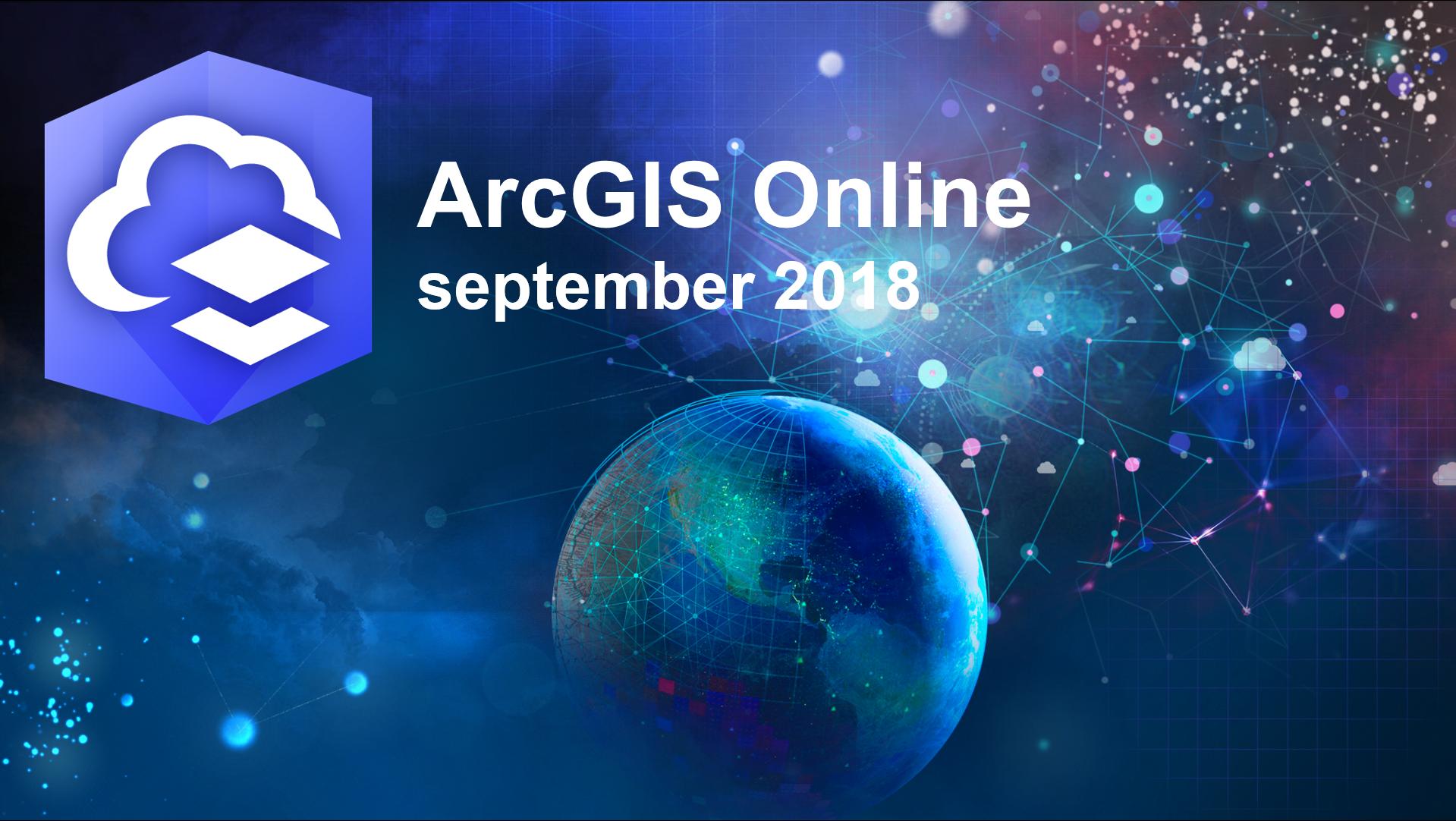 ArcGIS Online Uppdateringar sept