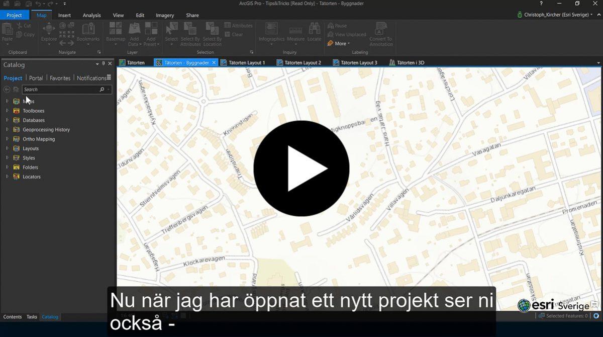 Byt tema i ArcGIS Pro