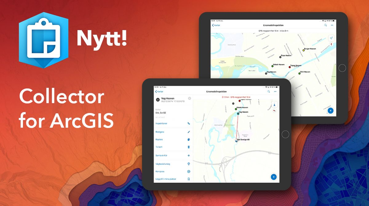 Nytt i Collector for ArcGIS