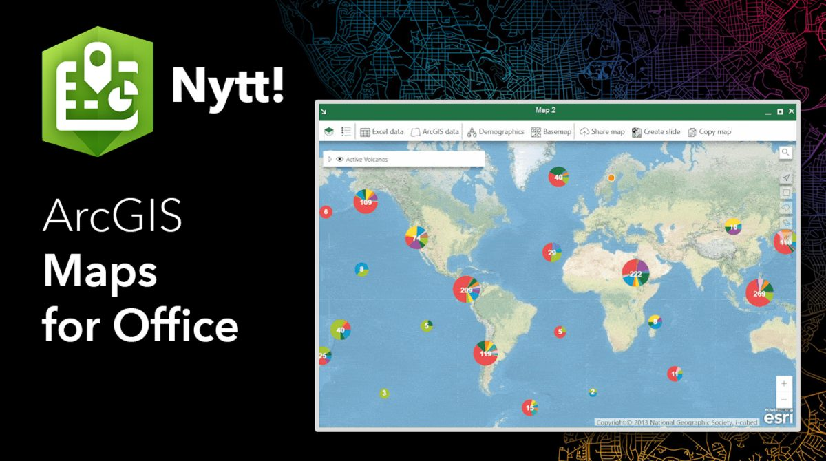 Nytt i ArcGIS Maps for Office - jan 2019