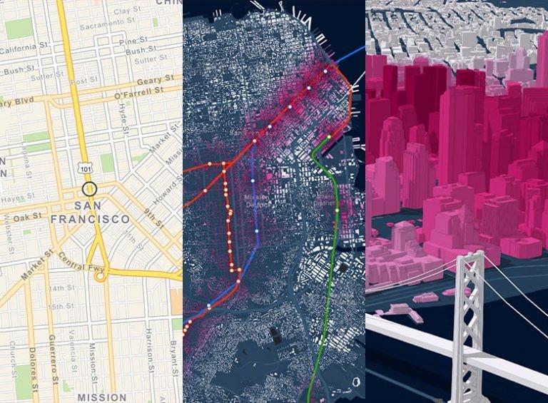 Skapa innehållsrika, interaktiva och smarta kartor i 2D och 3D i ArcGIS