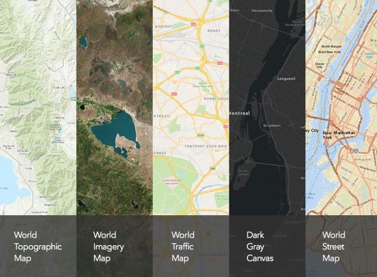 Bakgrundskartor i The Living Atlas