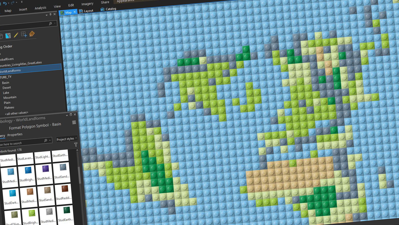 Världskarta i Legostil