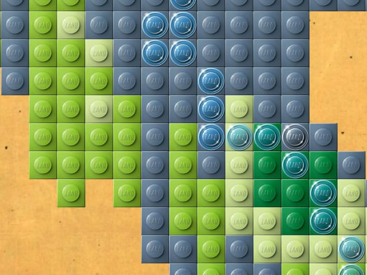 Glänsande Legobitar illustrerar flod i ArcGIS Pro