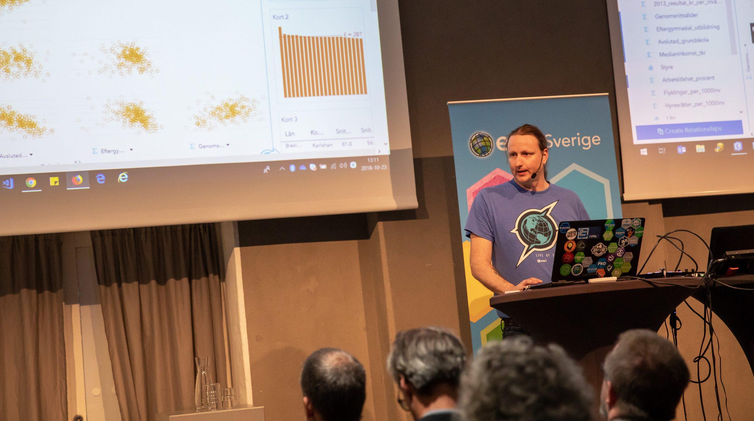 Erik Lassyms på ArcGIS Användardagar, Esri Sverige