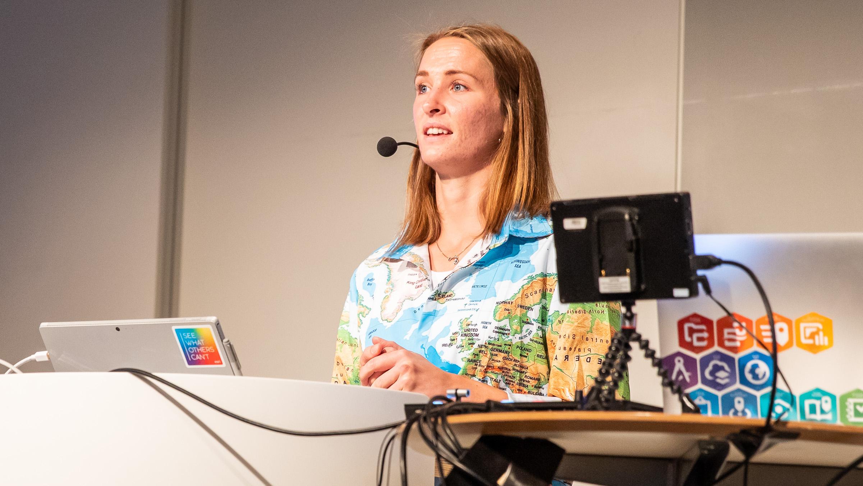 Maria Lindh på ArcGIS Användardagar