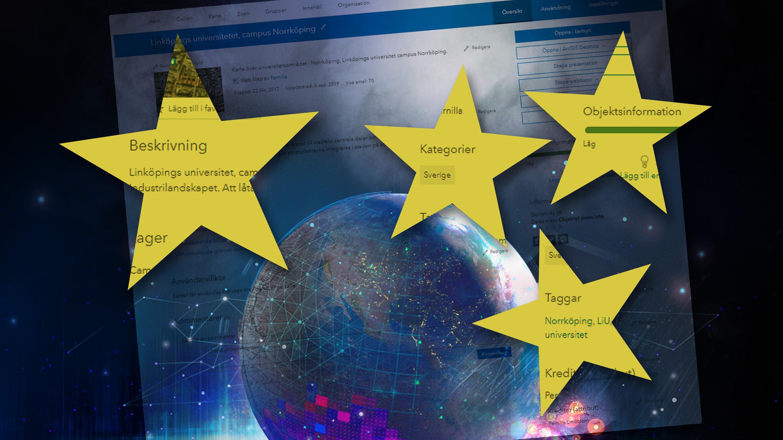 Fyll i objektsinformation i ArcGIS Online