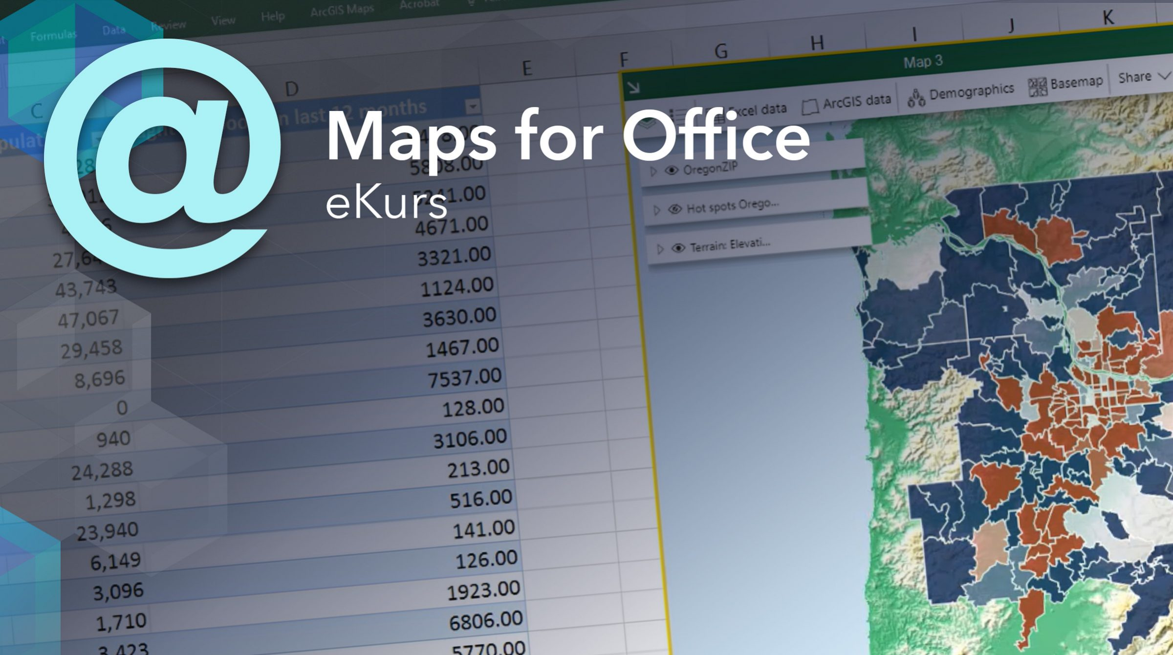 E-kurs med grunderna i ArcGIS Maps for Office