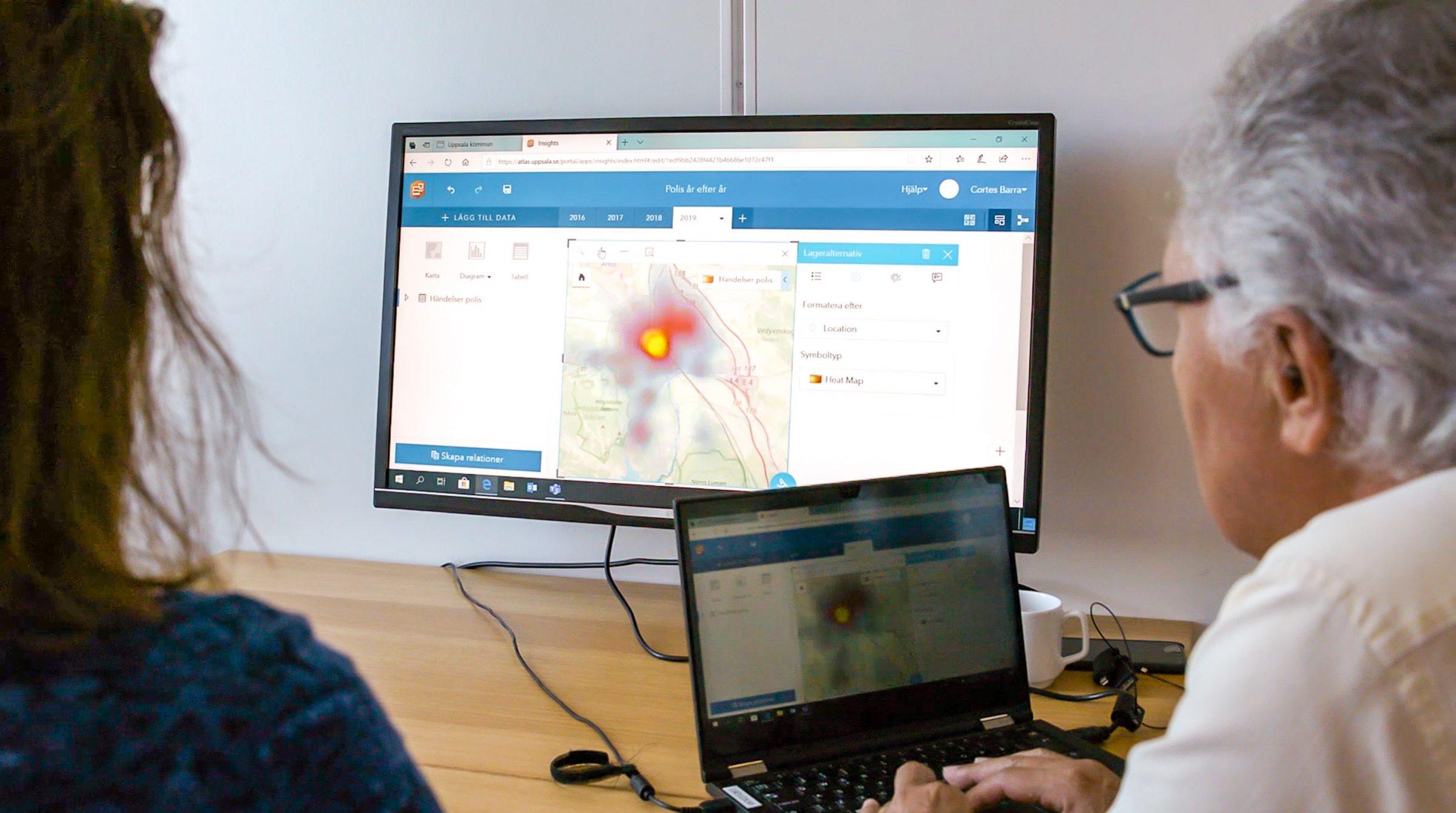 ArcGIS Insights används för att göra trygghetsanalyser