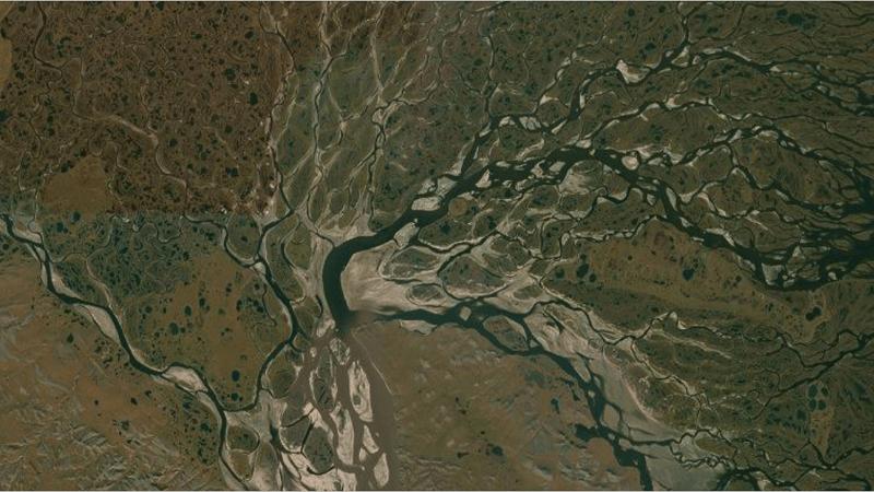 Delta över Sibirien