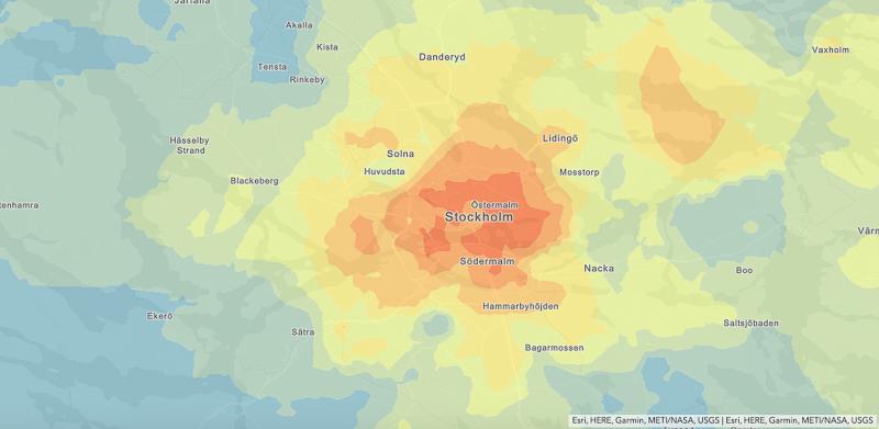 Hotspot analys över Stockholm