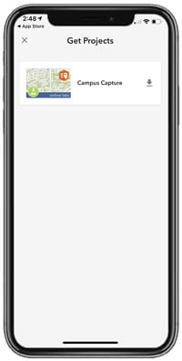 Öppna ArcGIS QuickCapture i mobilen