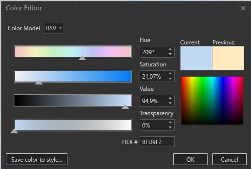 Färgpalett i ArcGIS Pro