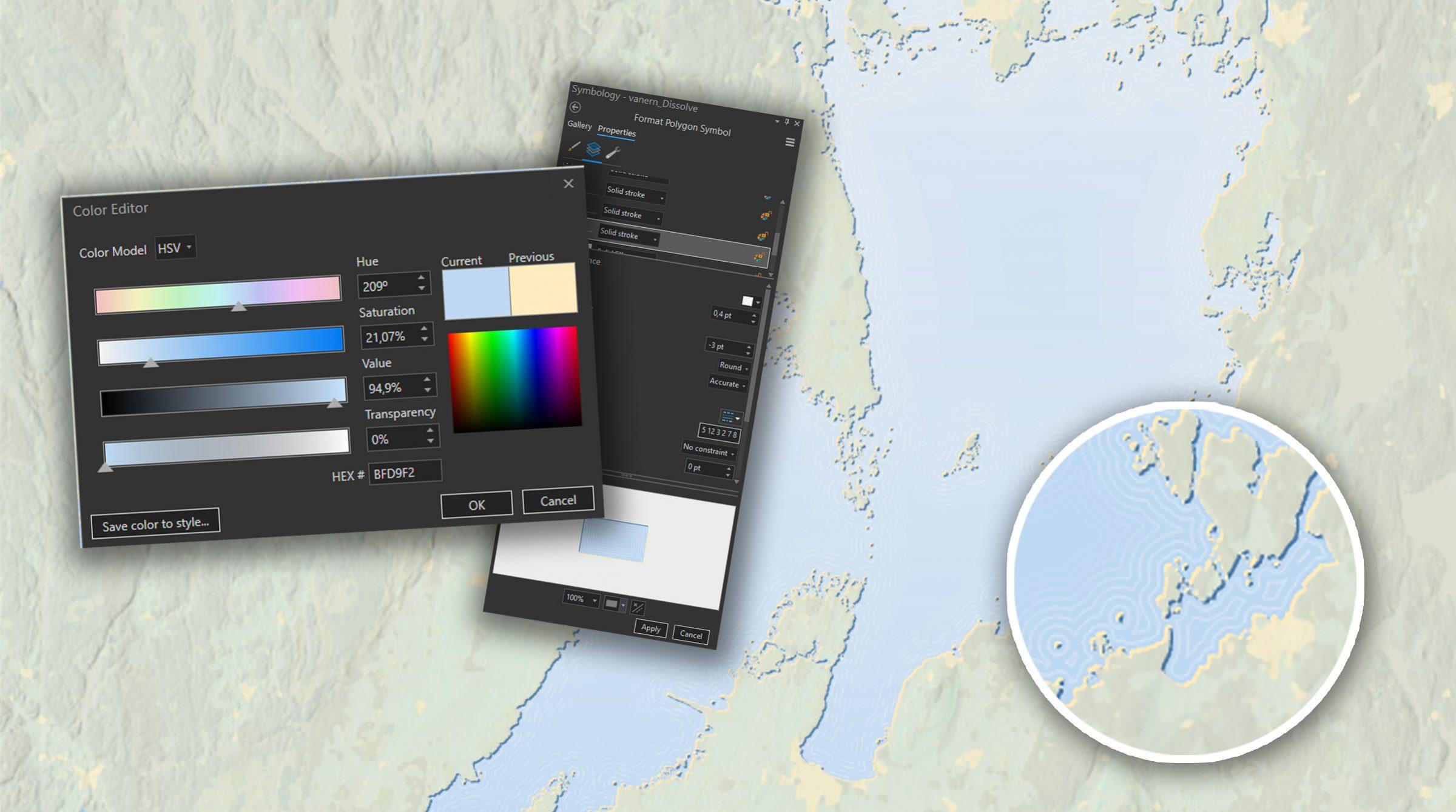 Kartografi över Vänern