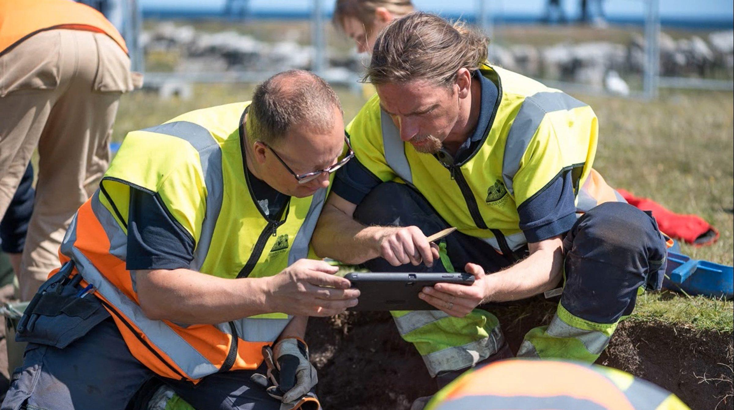 Utgrävning av Sandbyborg med ArcGIS-app