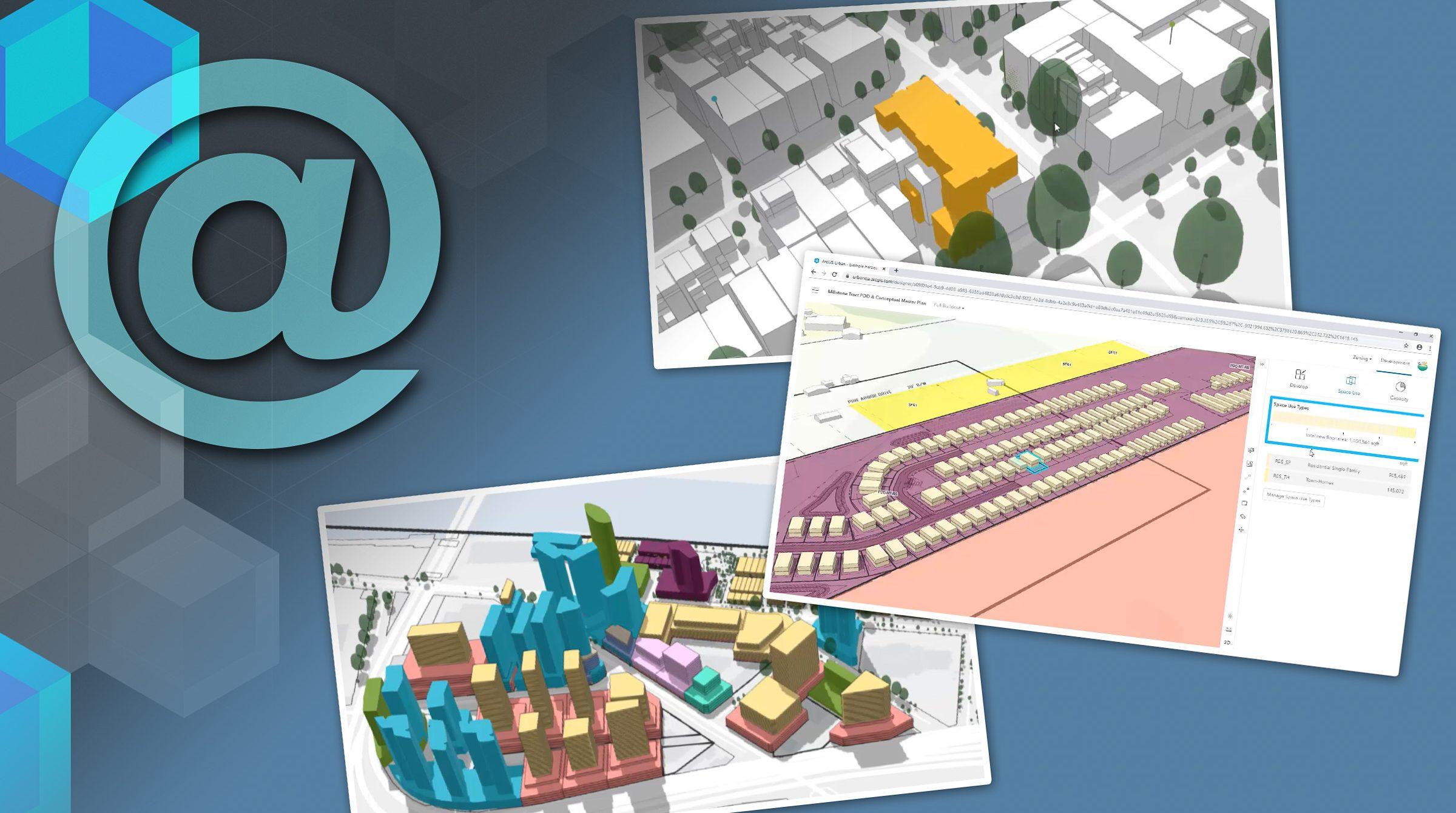Exempel på hur ArcGIS Urban ser ut
