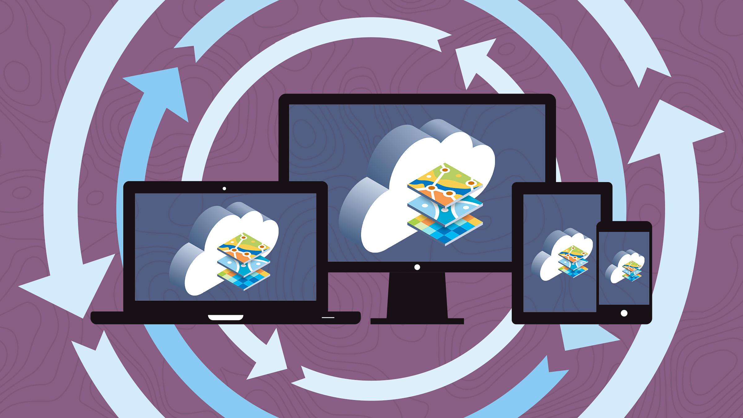 Med ArcGIS Online har du din GIS-portal säkert i molnet
