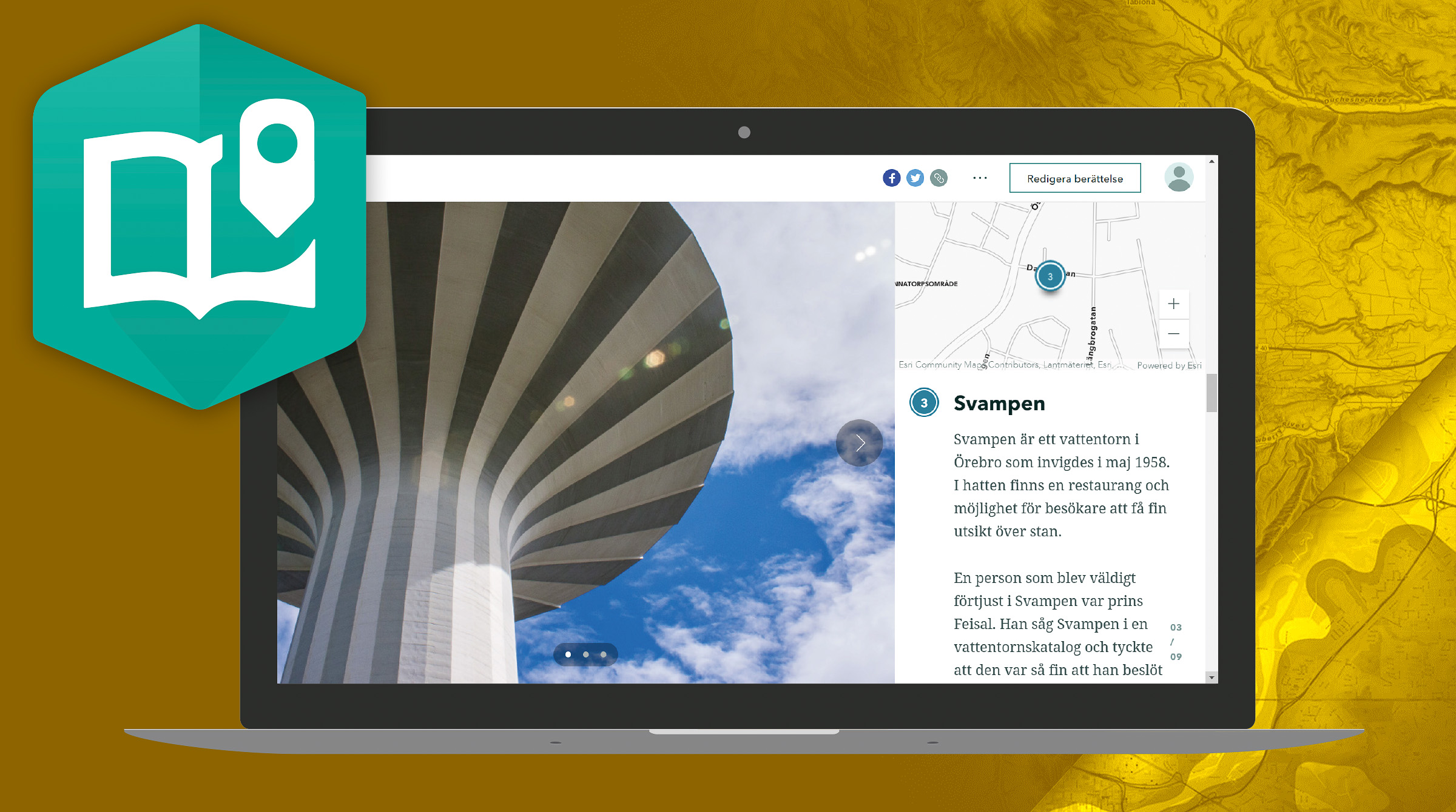 Skapa snygga presentationer med ArcGIS StoryMaps