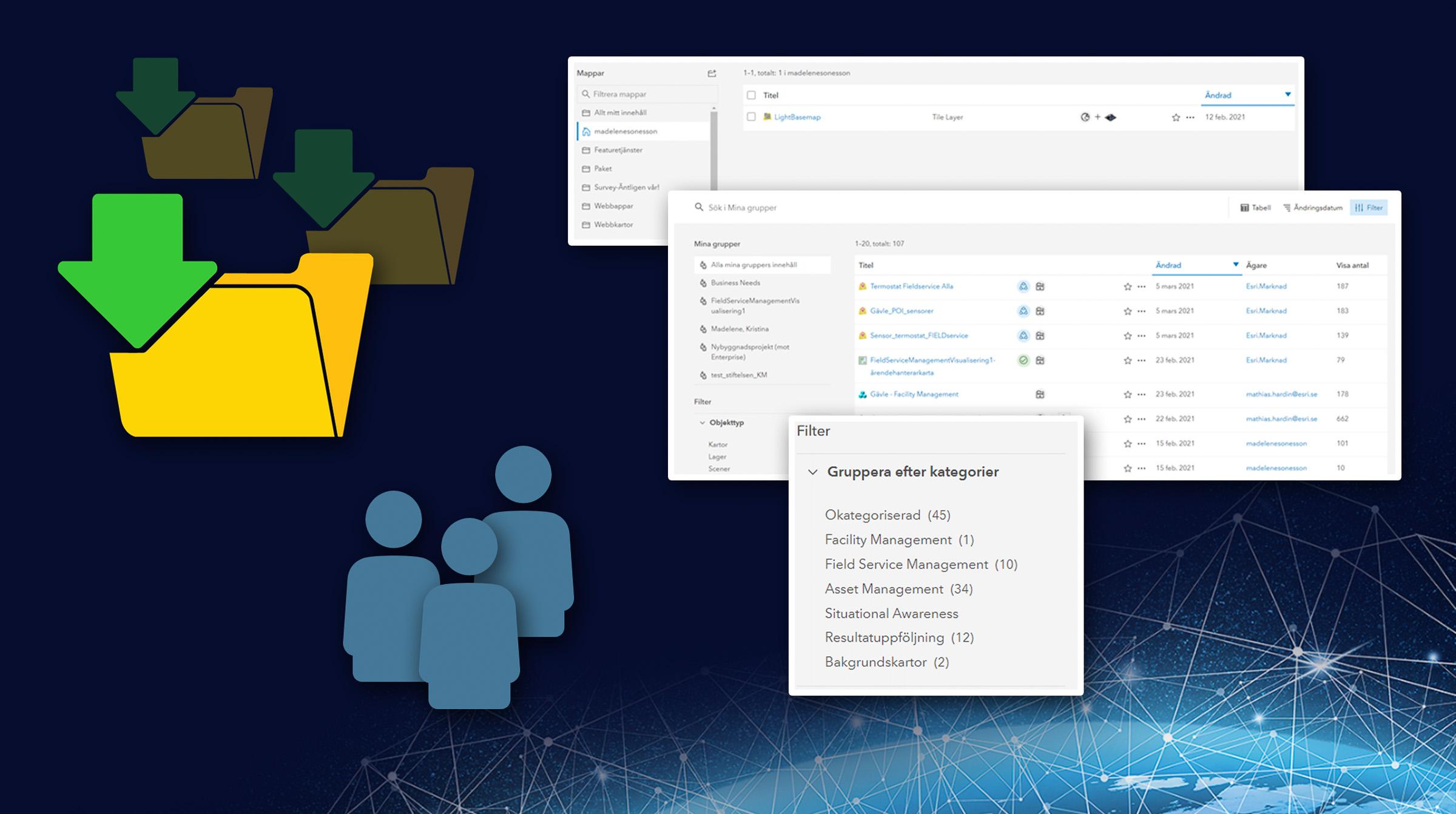 Bygg en smart struktur i GIS-portalen