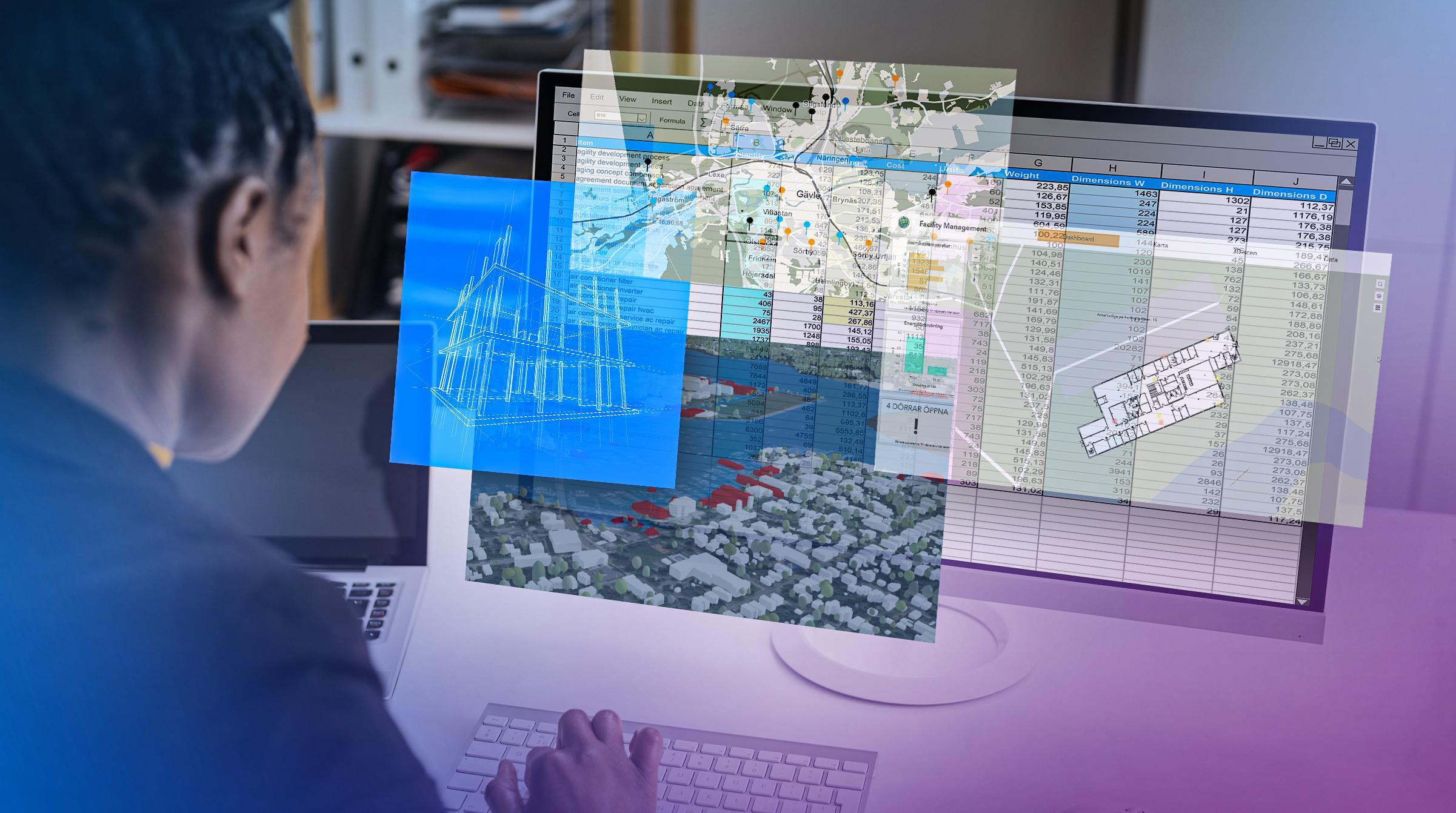 ArcGIS kompletterar andra system inom till exempel facility management