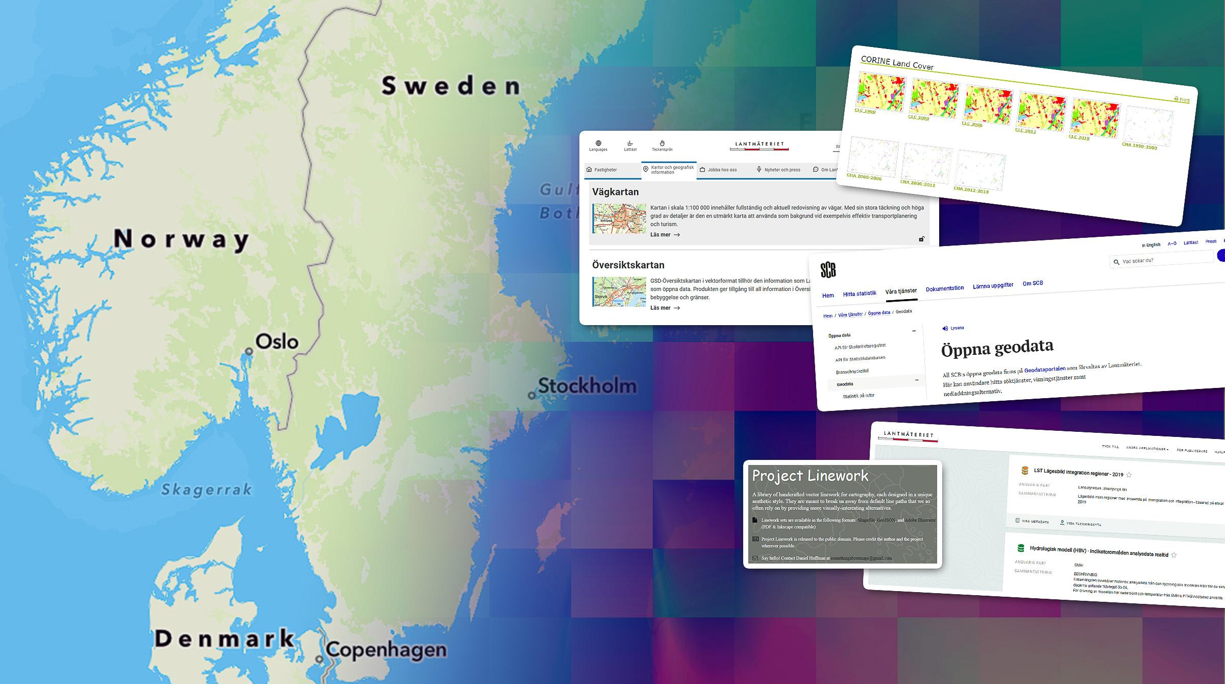 Svenskt öppna data att använda i ArcGIS