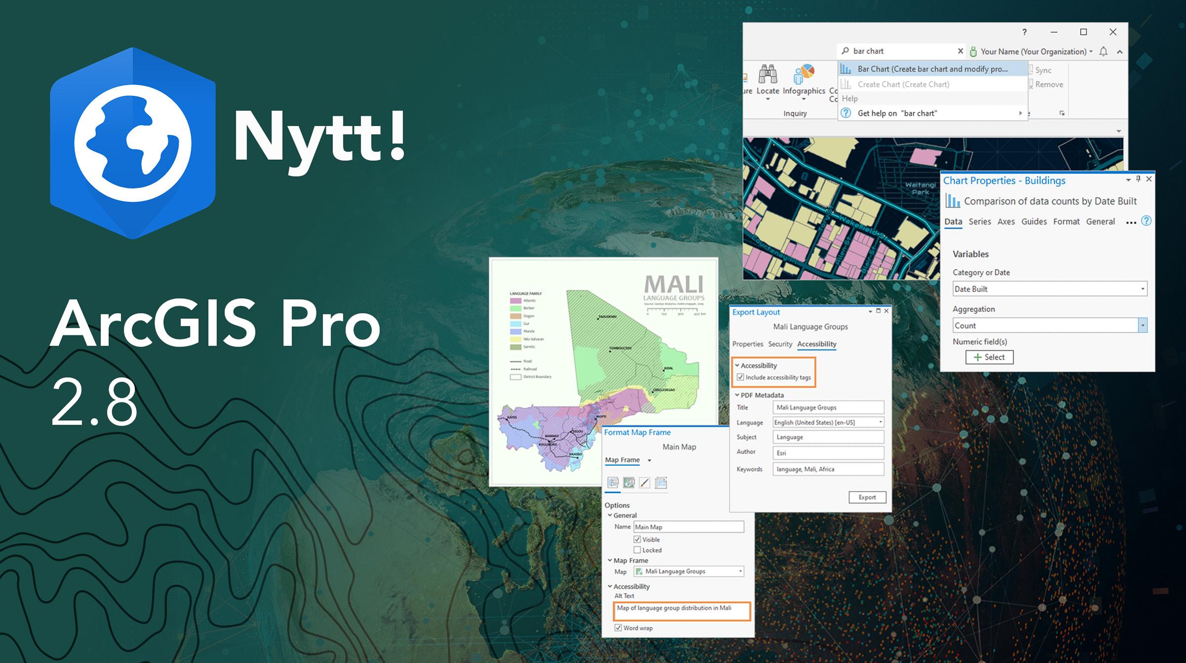 Nytt i ArcGIS Pro 2.8