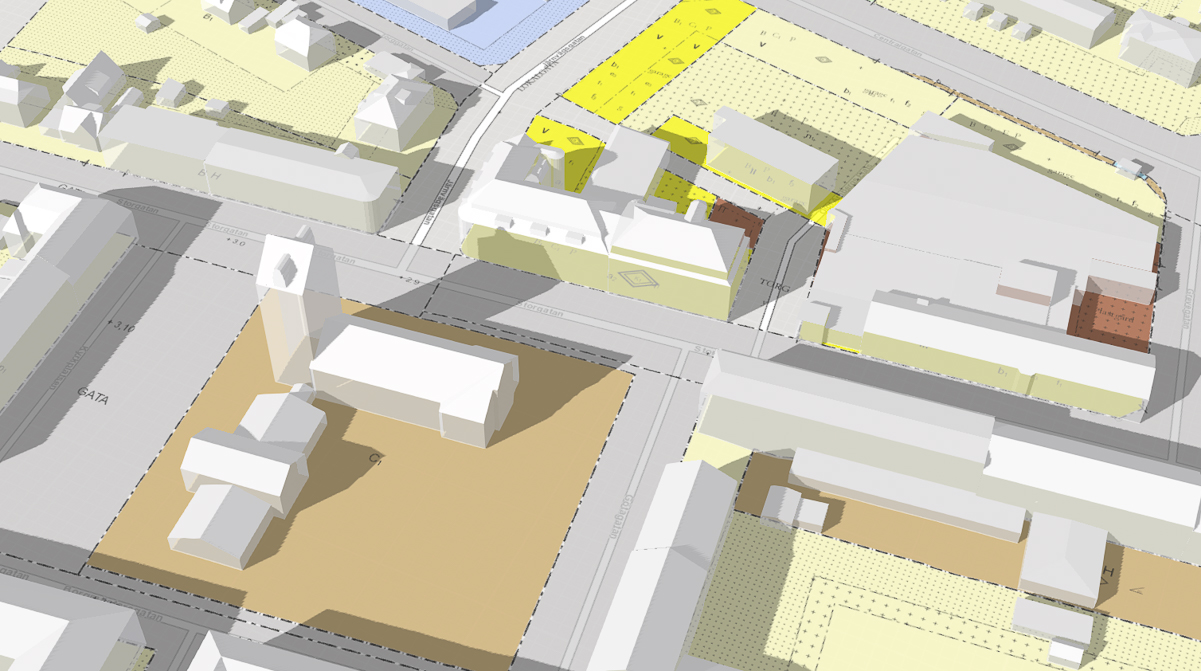Höganäs kommun som 3D-karta