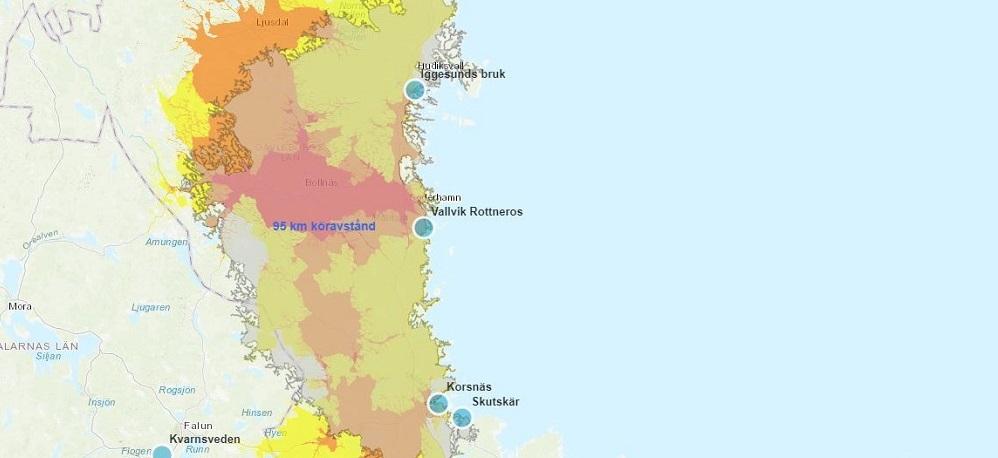 Visualisering av data på karta - konkurrens