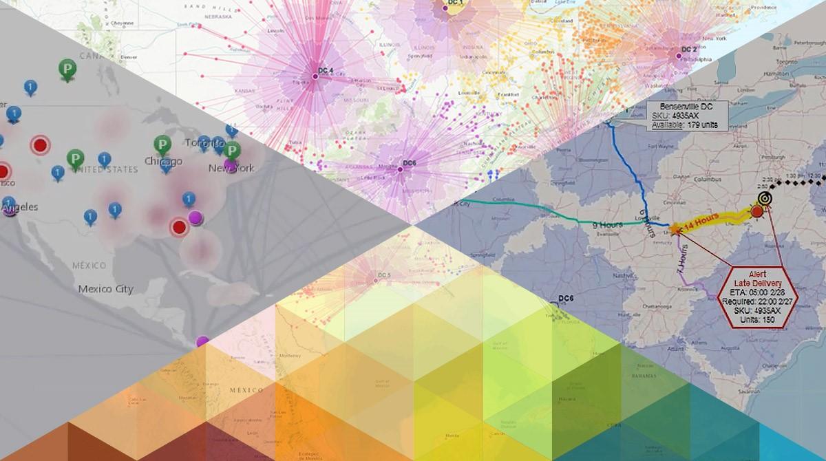 Visualisering av data på kartor för supply chain