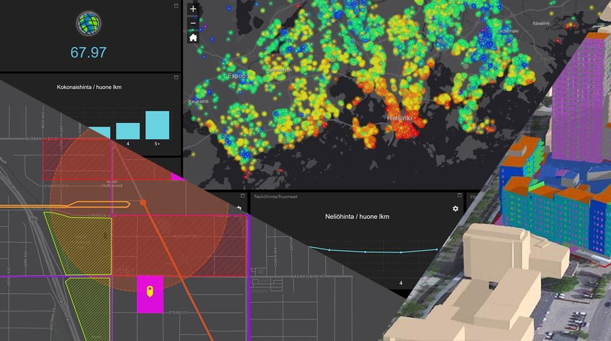 Montage av visualiseringar på karta