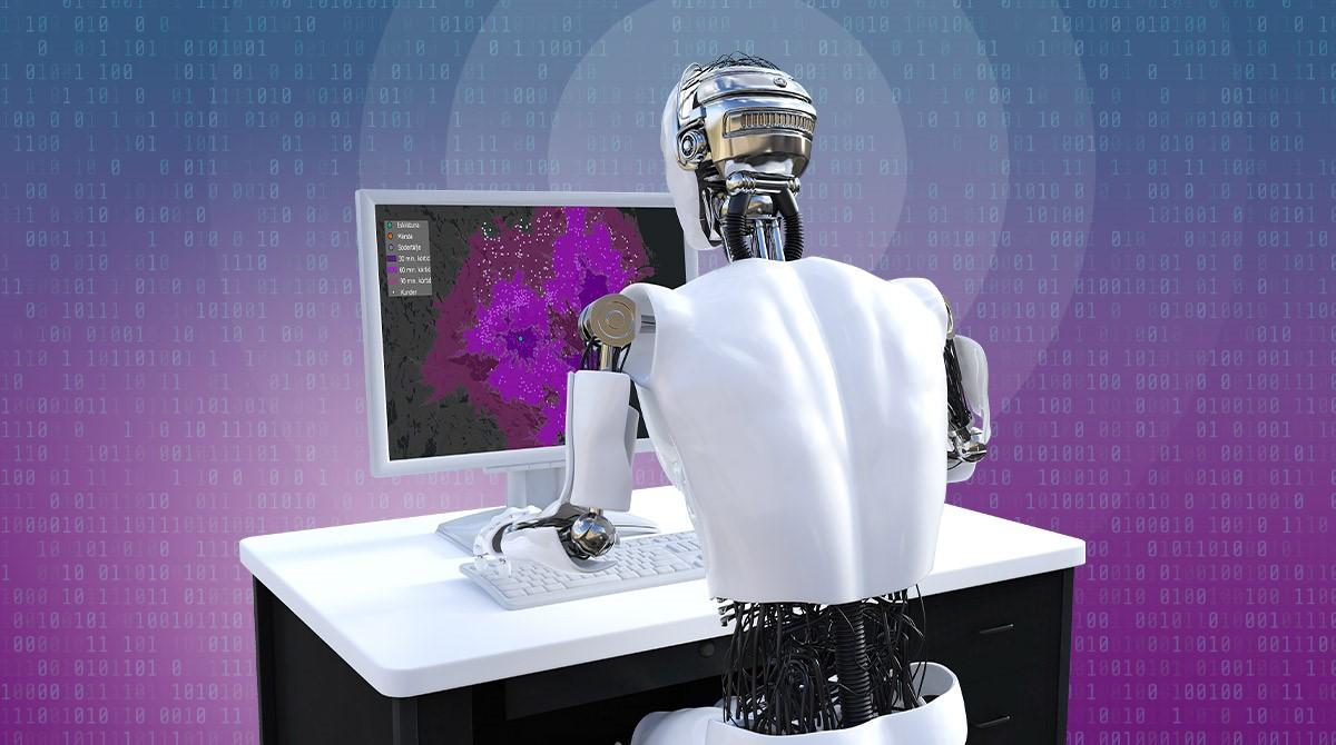 Robot vid dator