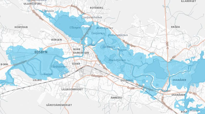 Karta översvämning