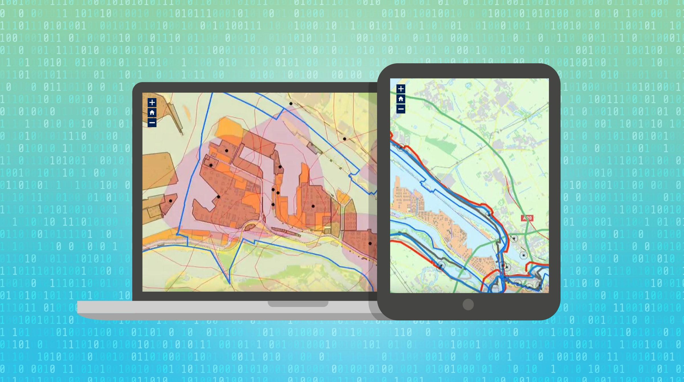 Dataskärmar med smarta kartor