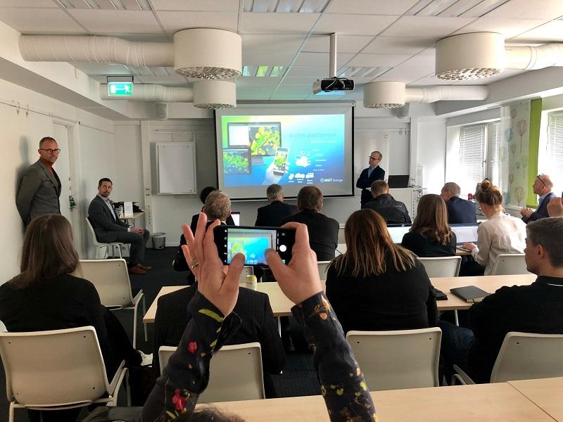 Presentation av Esri och ArcGIS vid lansering HUI Maqps