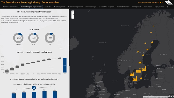 Story Map från Business Sweden