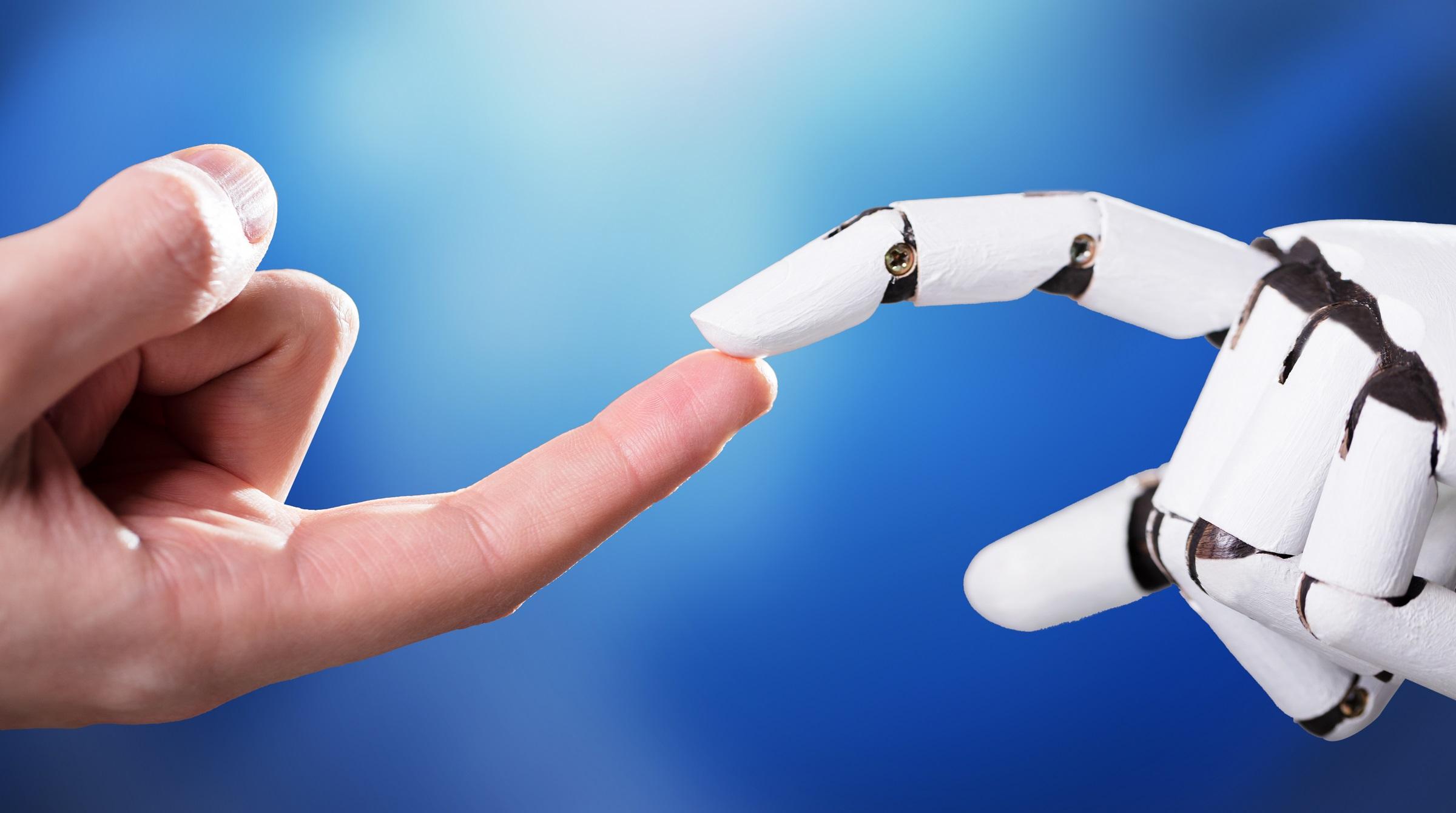 Fingertouch människa-robot