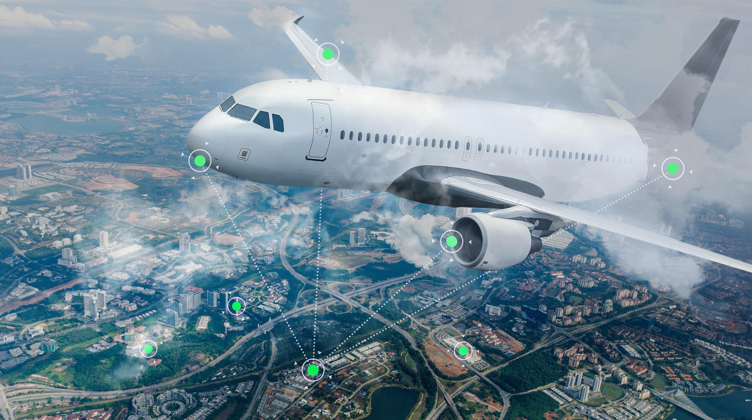 IoT: Sensorer på flygplan och marken